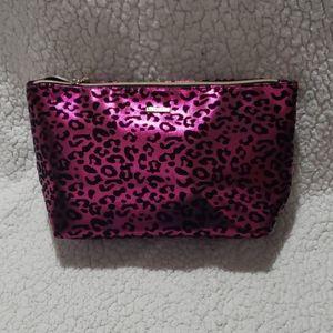 Juicy Couture Black & Pink Leopard Beauty Bag